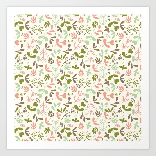 Colorful Lovely Pattern XIV Art Print
