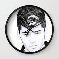 zayn Wall Clocks featuring Zayn Malik by D77 The DigArtisT