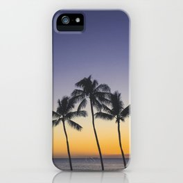 Palm Trees w/ Ombre Tropical Sunset - Hawaii iPhone Case
