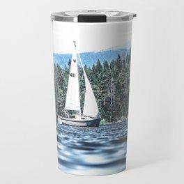 Calm Lake Sailboat Travel Mug