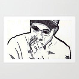 WOLF. (Blank Background) Art Print