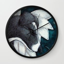 LOVELY GREYHOUND ANGEL DOG IN HEAVEN Wall Clock