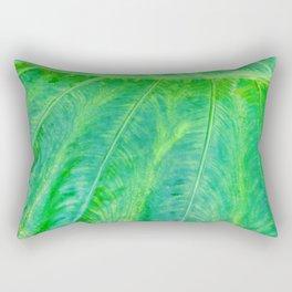 367 - Abstract Leaf Design Rectangular Pillow