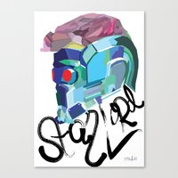star lord Canvas Prints featuring Star Lord  by Mary HB Nguyen