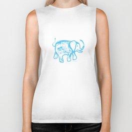 Blue elephat Biker Tank
