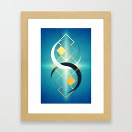 Crescent Moon Double :: Floating Geometry Framed Art Print