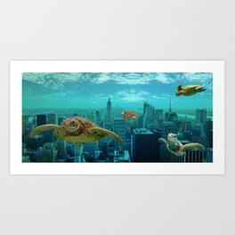 Urban Turtles Art Print