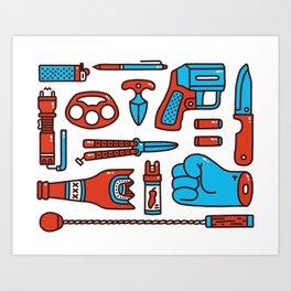 Street weapons Art Print