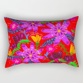 Orange Violets Rectangular Pillow