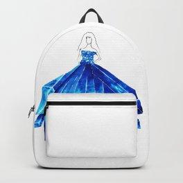 Light Blue Crystal Backpack