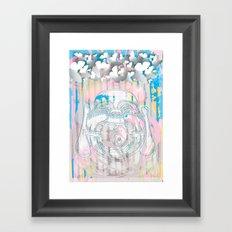 Buddha-Love & Butterfly Framed Art Print