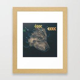Urban wolf Framed Art Print