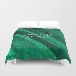 green velvet fabric gabrielle Duvet Cover