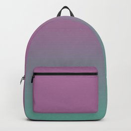 Pink lavender turquoise gradient pattern Backpack