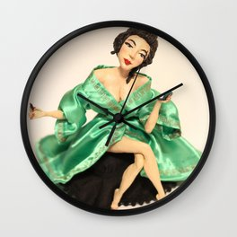 Geisha front Wall Clock
