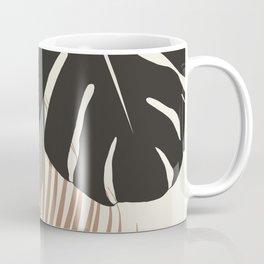 Minimal Monstera Palm Finesse #1 #tropical #decor #art #society6 Coffee Mug