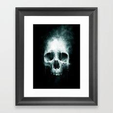 Skull Spatter Framed Art Print