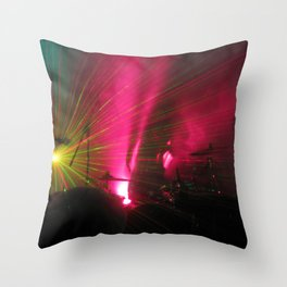 STRFCKR concert lasers Throw Pillow