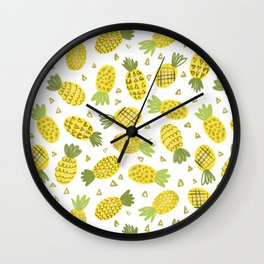 Pineapple Repeat Wall Clock