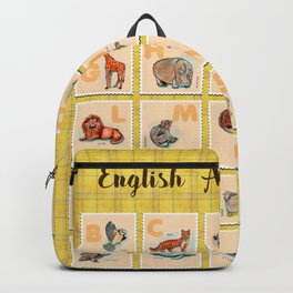 hand drawn animals poster for all English letters Backpack