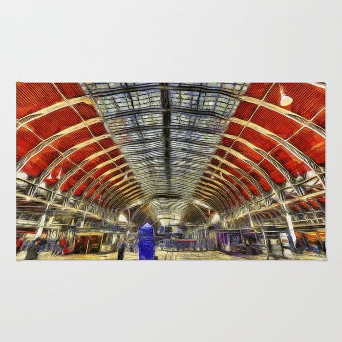 Paddington Railway Station Art Rug