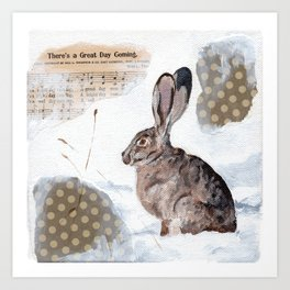 There's a Great Day Coming - Brown Rabbit Art Print