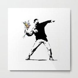Rage Flower Thrower Metal Print