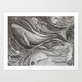 Deep Dive Art Print