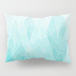 Geometric Lake Mountain IV - Winter Pillow Sham