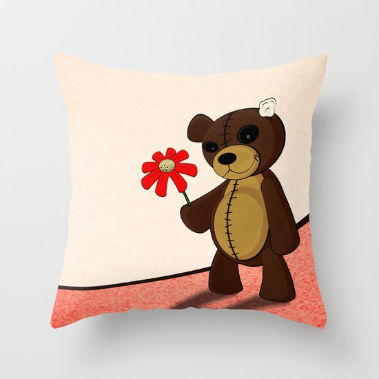 Sweet teddy Throw Pillow