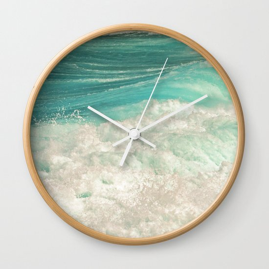 Simply Splash Wall Clock By Catspaws Society6