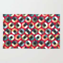 London Beauty target red Rug