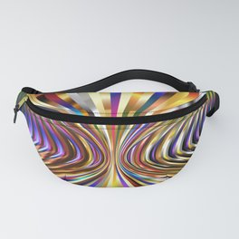 Abstract Molecular Balloon View Fanny Pack