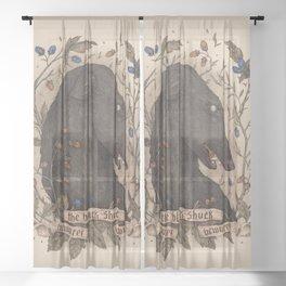 Beware, the Black Shuck Sheer Curtain