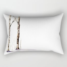 Birch Trees in January Rectangular Pillow