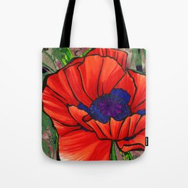 Poppy Collage 1 Tote Bag