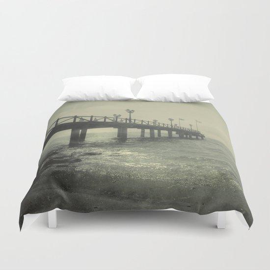 """""""Vintage pier"""" Duvet Cover"""