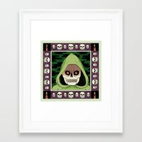 death Framed Art Prints featuring Death  by Jack Teagle