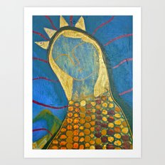 Corn Maiden Portrait Art Print