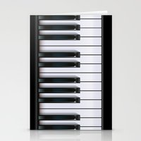 piano Stationery Cards featuring Piano by rob art | illustration