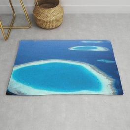 Blue Ocean White Sand Lagoons Maldives Beach Rug
