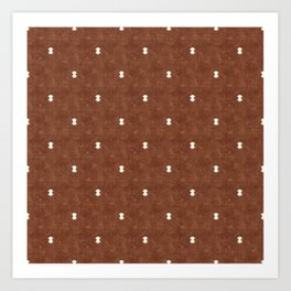 bohemian aztec simple - brandywine Art Print
