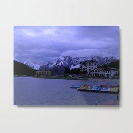 Misurina Lake Metal Print