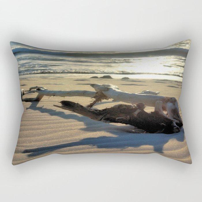 Sunset Driftwood Rectangular Pillow