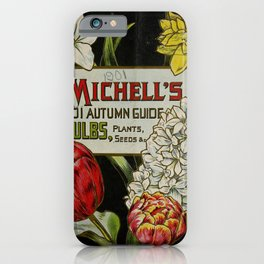 Seed Catalog Garden Floral Fruit Narcissus Tulip Hyacinthus iPhone Case