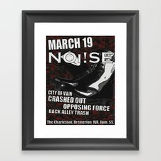 Show Flyer, 3/19/12 (NOi!SE) Framed Art Print