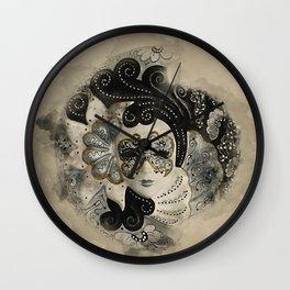 Venetian Mask Wall Clock
