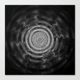 Ripples_Black Canvas Print