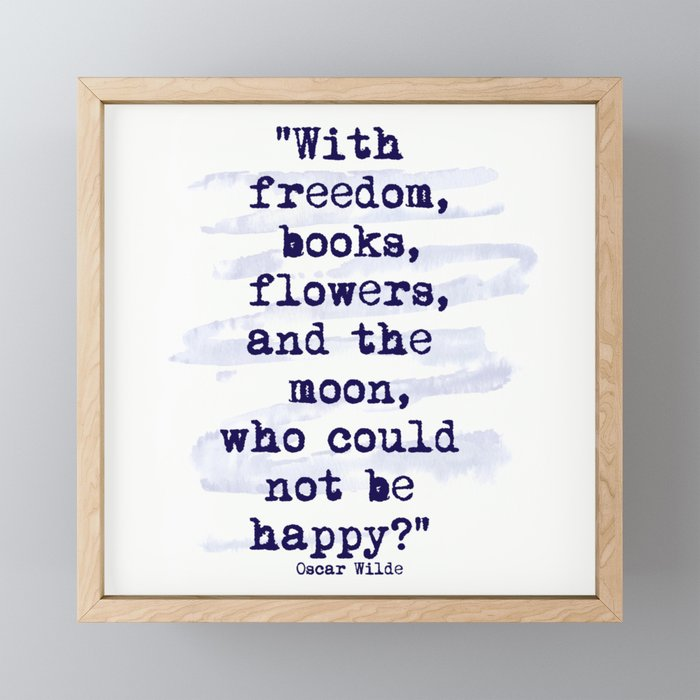 Freedom Books Flowers Happiness Framed Mini Art Print