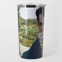 Collage La chinoise - Jean Luc Godard  (1967) Travel Mug